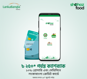 Shohoz Food lankabangla cashback offer